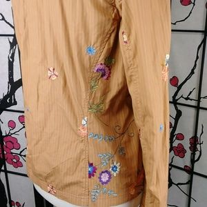 Johnny Was Jackets & Coats - Johnny Was Embroidered Floral Boho Jacket Festival